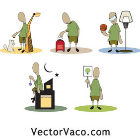 Urban Cartoons - Free vector #212995