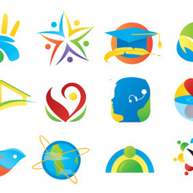 12 Vector Ideas For Logo - vector gratuit #213075