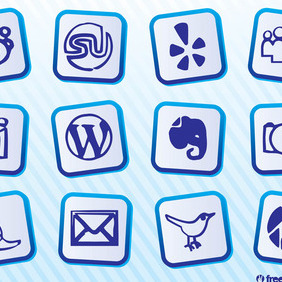 Social Media Icons Pack - vector #213135 gratis
