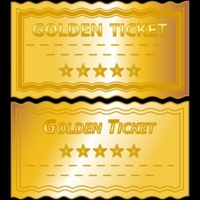 Golden Tickets - vector gratuit #213305