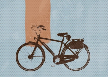Retro Bike - vector gratuit #213425