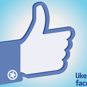 Facebook Like Hand - vector gratuit #213535