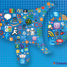 Social Media Graphics - vector gratuit #213645