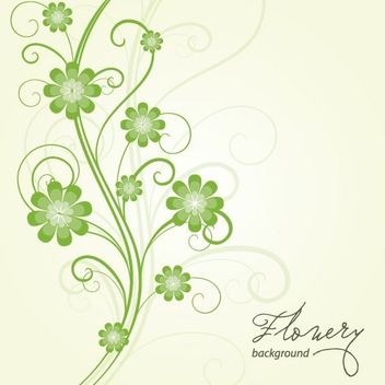 Flowery Background Vector - vector #213885 gratis