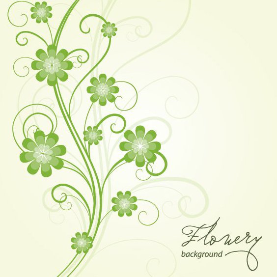 Flowery Background Vector - Free vector #213885