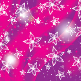 White Flower In Shinning Purple Design - vector gratuit #213935