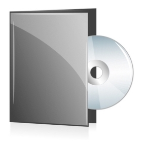 Disc In Grey Cover - бесплатный vector #214045