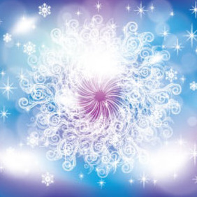 Blue New Ornaments Free Vector Graphic - Free vector #214075