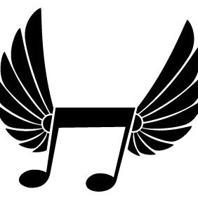 Flying Music Note Vector - vector gratuit #214125