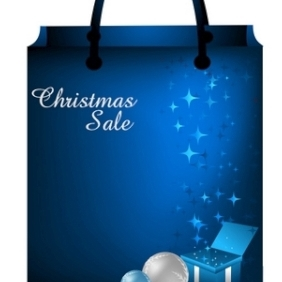 Christmas Shopping Bag - Free vector #214195
