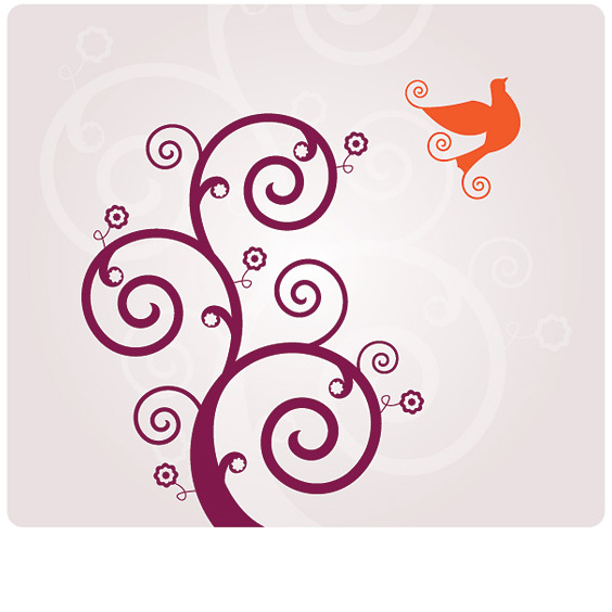 Bird swirly vecteur - vector gratuit #214295