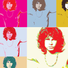 Pop Art Jim Morrison The Doors Poster - Free vector #214325