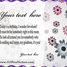 Vector Greeting Card - vector gratuit #214355