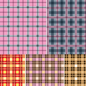5 Checkered Cloth Pattern - vector #214445 gratis