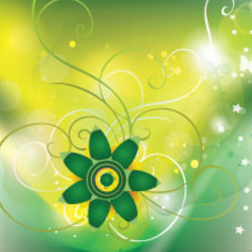 Lighting Green Floral - vector gratuit #214555