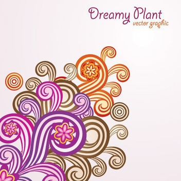Dreamy Plant - Free vector #214595