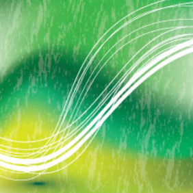 Green Abstract Vector With Two Lines - vector gratuit #214605