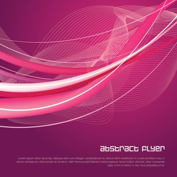 Abstract Flyer - vector gratuit #214645