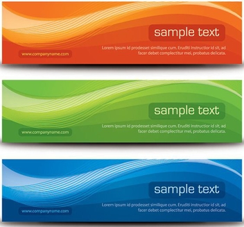 Stylish Banners - vector gratuit #214675