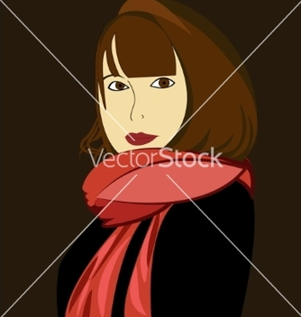 Free a young girl in the vector - Kostenloses vector #214715