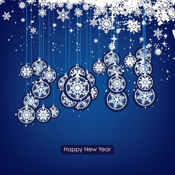 Happy New Year 2011 - vector gratuit #214765