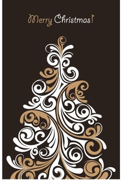 Christmas Tree Card 2 - vector gratuit #214775