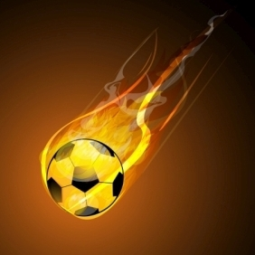 Burning Soccer Ball - Free vector #214825