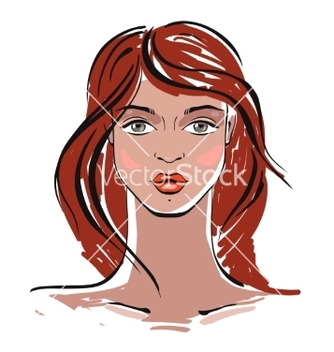 Free beautiful woman portrait vector - vector #214855 gratis