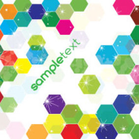 Colored Hexagonal Vector Free Background - Free vector #214895