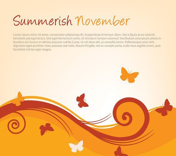 Summerish November - Free vector #214975