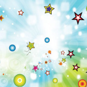 Coloreful Stars In Shinning Graphics - vector #215155 gratis