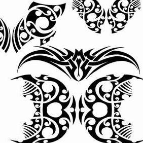 Tribal Vector Shapes - Kostenloses vector #215205