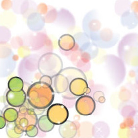 Colored Retro Bubbles In White Vector - Free vector #215215