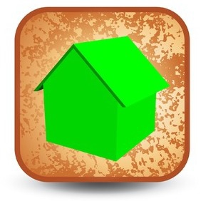 Grunge Home Button - Free vector #215235