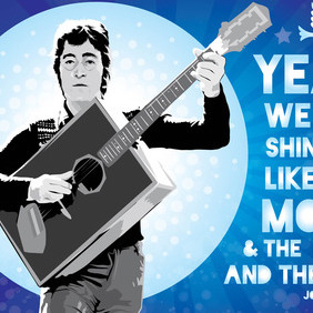 John Lennon Vector Illustration - vector gratuit #215295