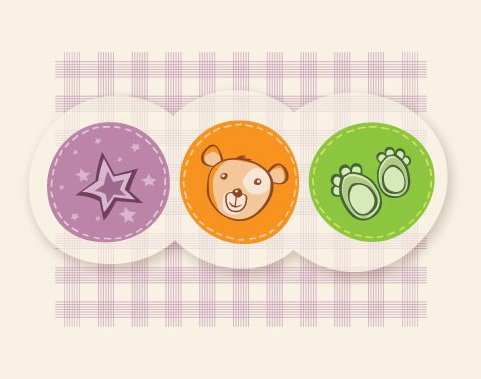 Cute Childish Card - Free vector #215345