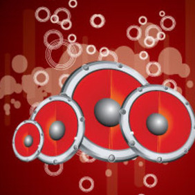 Red Micro Sounds Free Vector Background - Free vector #215485