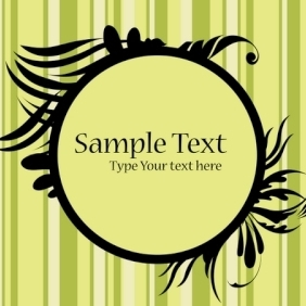 Floral Frame With Sample Text - vector #215535 gratis