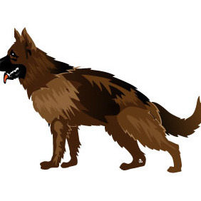 Dog Vector Art - Kostenloses vector #215625