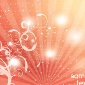 Swirly Dotted Orange Abstract Background - Free vector #215665