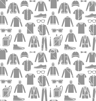 Free endless clothes background vector - Free vector #215925