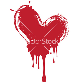 Free grunge red heart vector - бесплатный vector #216195