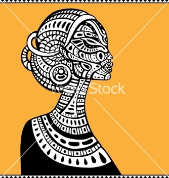 Free profile of beautiful african woman vector - vector gratuit #216215