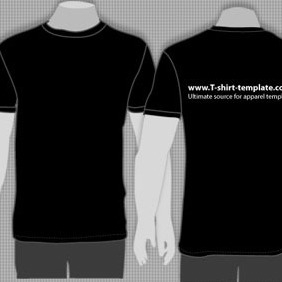 VECTOR MODEL T-SHIRT TEMPLATE FRONT BACK - vector gratuit #216265