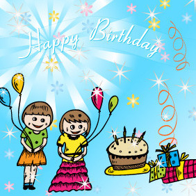 Happy Birthday Vector - vector #216305 gratis