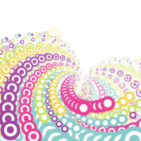 Colorful Whirlpool Vector - Free vector #216325