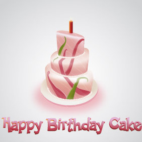 Happy Birthday Cake - vector gratuit #216555