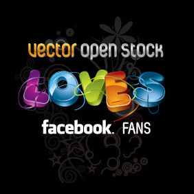 We Love Facebook Fans - vector gratuit #216645