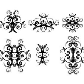 Floral Ornaments Vector Pack - Kostenloses vector #216845