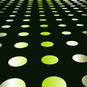 Abstract Green Dots Background VP - vector gratuit #216885